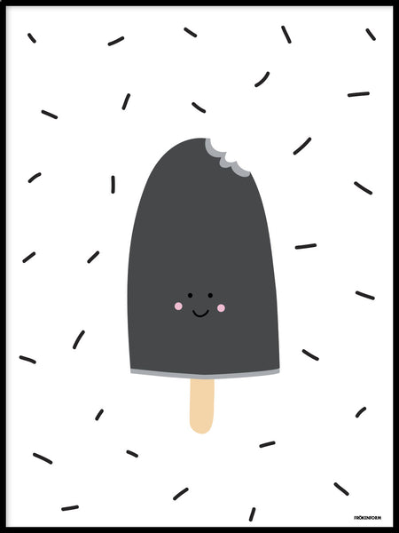 Poster: Ice Cream Black, by Fröken Form
