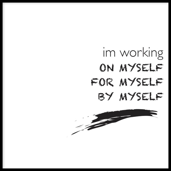 Poster: I'm working, av lindasofieolsson