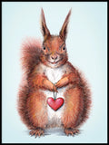 Poster: I love you little Squirrel, by Lena Svalfors Hedin