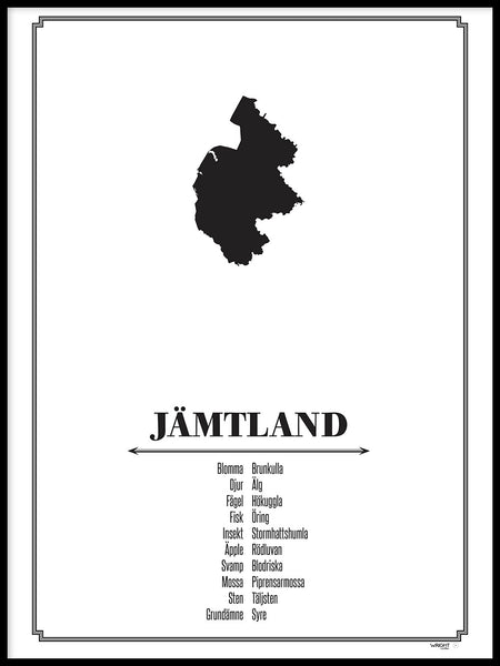 Poster: Jämtland, by Caro-lines
