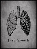 Poster: Just. Breath., by Anna Mendivil / Gypsysoul
