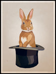 Poster: Rabbit in a hat, by Lisa Hult Sandgren