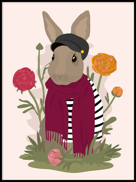 Poster: Rabbit, by Linn Leding