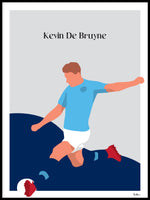 Poster: Kevin De Bruyne, by Tim Hansson