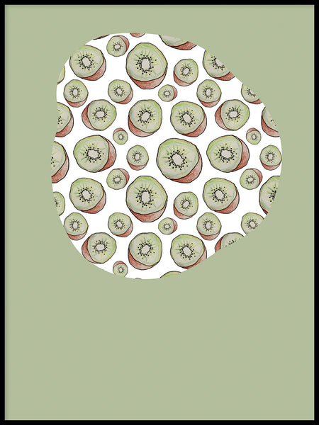 Poster: Kiwi green, by Fia-Maria