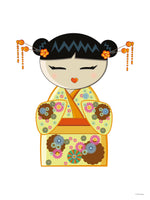 Poster: Kokeshi Dolls #10, by PIEL Design