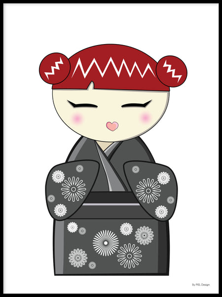 Poster: Kokeshi Dolls #11, by PIEL Design