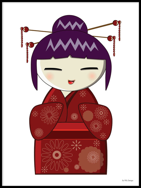 Poster: Kokeshi Dolls #12, by PIEL Design