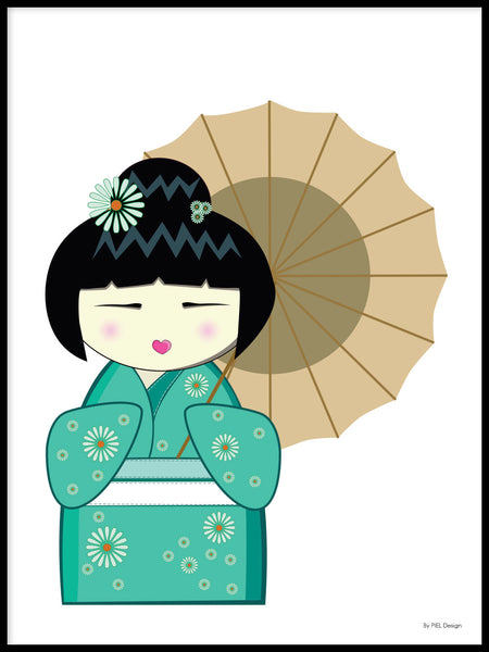 Poster: Kokeshi Dolls #13, by PIEL Design