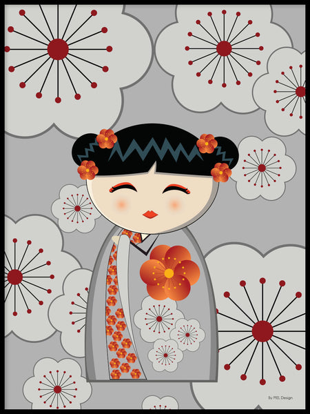 Poster: Kokeshi Dolls #16, by PIEL Design