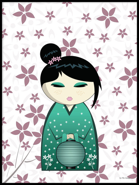 Poster: Kokeshi Dolls #20, by PIEL Design