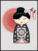 Poster: Kokeshi Dolls #22, by PIEL Design