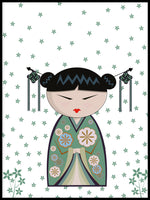 Poster: Kokeshi Dolls #23, by PIEL Design