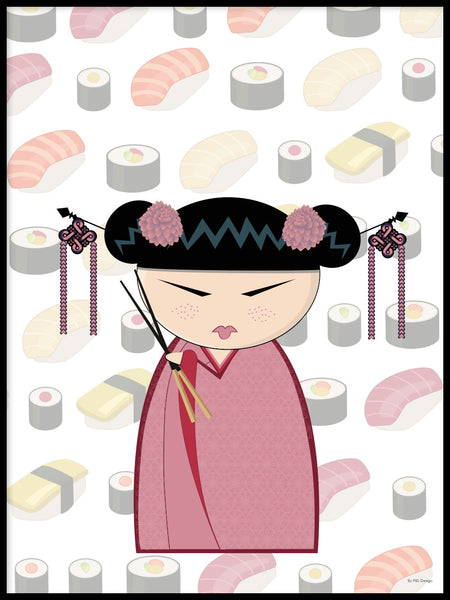 Poster: Kokeshi Dolls #26, by PIEL Design