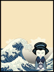 Poster: Kokeshi Dolls #38, by PIEL Design