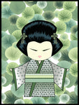 Poster: Kokeshi Dolls #66, by PIEL Design