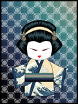 Poster: Kokeshi Dolls #70, by PIEL Design