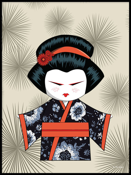 Poster: Kokeshi Dolls #79, by PIEL Design