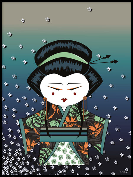 Poster: Kokeshi Dolls #82, by PIEL Design