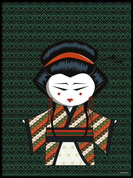 Poster: Kokeshi Dolls #86, by PIEL Design