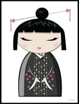 Poster: Kokeshi Dolls #9, by PIEL Design