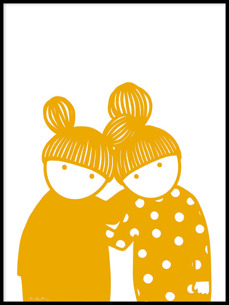 Poster: Friendship Yellow, by Anna Grundberg