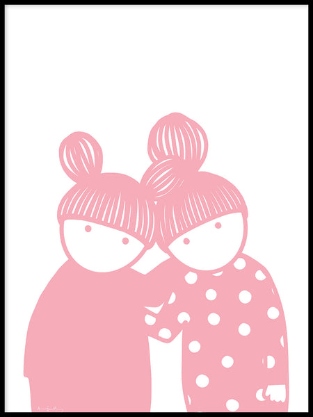 Poster: Friendship Pink, by Anna Grundberg