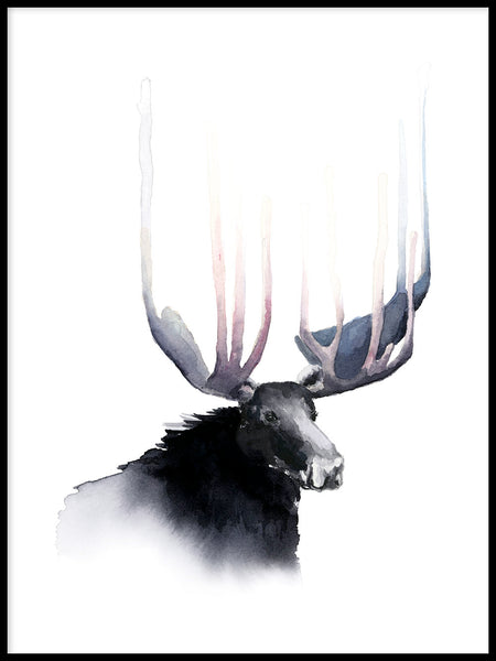Poster: The crown of the King, by Cora konst & illustration