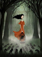 Poster: The girl and the raven, by Majali Design & Illustration