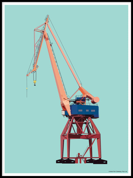 Poster: Crane, by Pop-in Local graphics