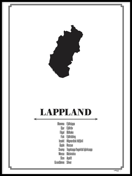 Poster: Lappland, by Caro-lines