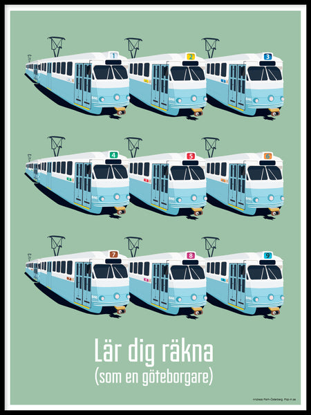 Poster: Lär dig räkna, by Pop-in Local graphics