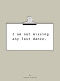 Poster: Last Dance, by Discontinued products