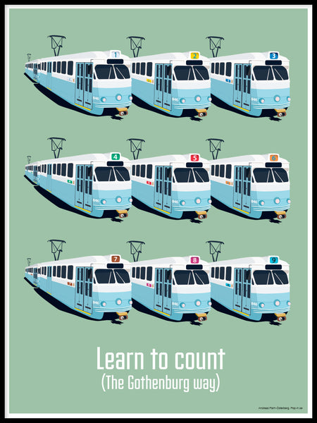 Poster: Learn to count, by Pop-in Local graphics