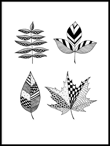 Poster: Leaves, by Blacklines