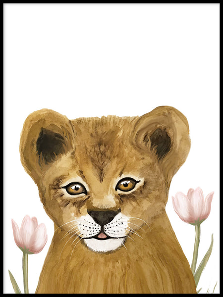Poster: Lion Cub, by Lindblom of Sweden