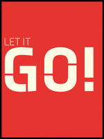 Poster: Let it go, red, by Esteban Donoso