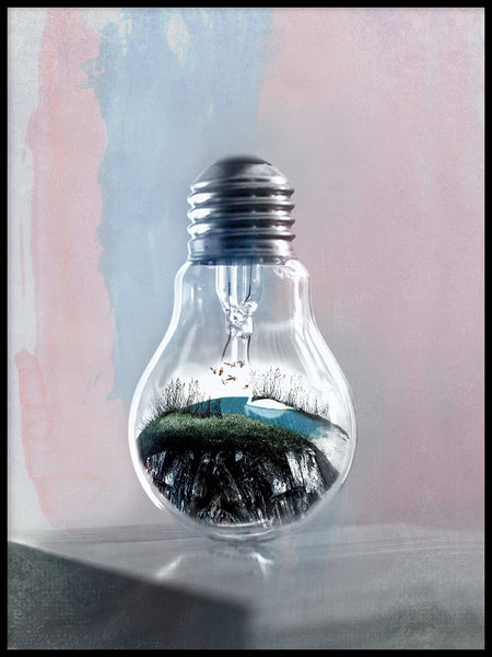 Poster: Life in a bulb, by LO Art Design