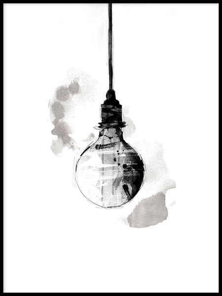 Poster: Light Bulb, by Lotta Larsdotter