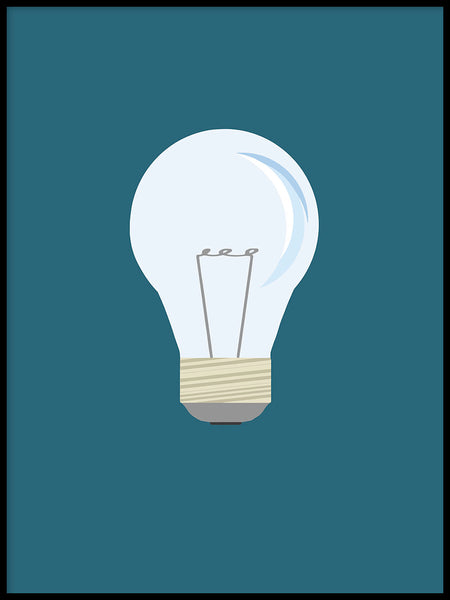 Poster: Lightbulb, av By Lorentzon