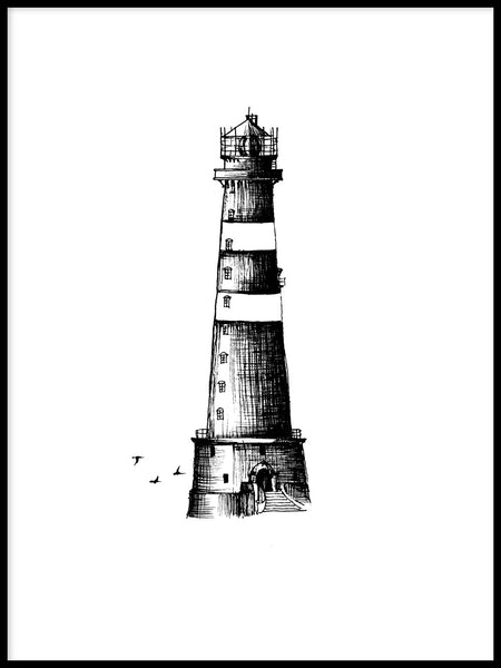 Poster: Lighthouse, by Sofie Staffans-Lytz