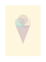 Poster: Lilly´s icecream, gul, by Discontinued products
