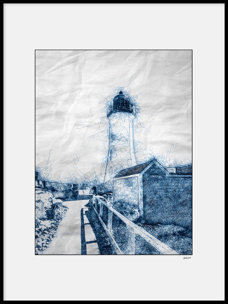 Poster: Lines II: Lighthouse New England, by A chapter 5 - Caro-lines