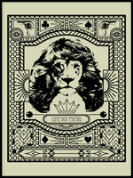Poster: Lion Hair Grey, by Grafiska huset