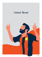 Poster: Lionel Messi, by Tim Hansson