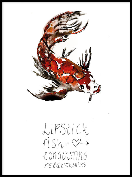 Poster: Lipstick Fish, by Jessica Ahrling