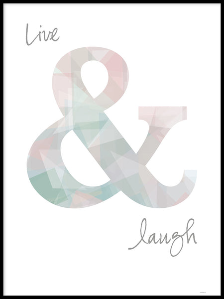 Poster: Live & Laugh, by ANNABOYE