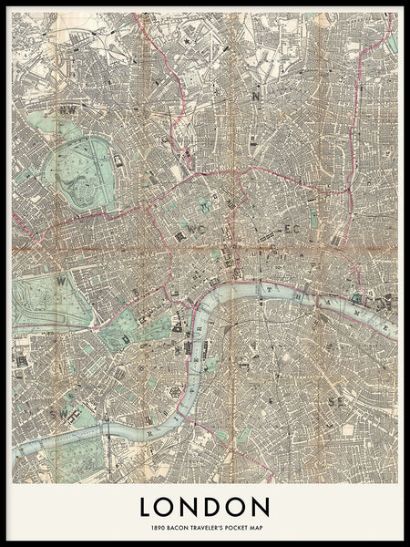 Poster: London 1890, by Owl Streets