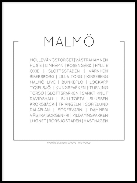 Poster: Malmö, by Lucky Me Studios
