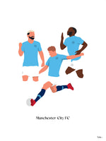Poster: Manchester City FC, by Tim Hansson